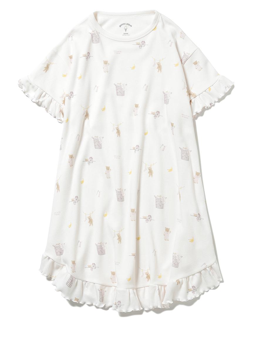 【オフィシャルオンラインストア限定】【junior】モーニングベア柄ドレス(PNK-130-140)