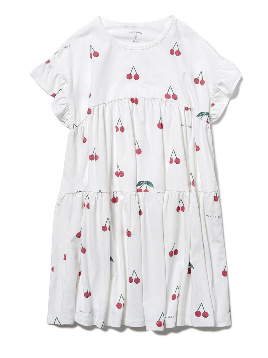 【オフィシャルオンラインストア限定】【junior】チェリー柄ドレス(RED-130-140)