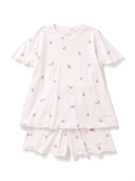 【オフィシャルオンラインストア限定】【junior】ラズベリー柄Tシャツ&ショートパンツSET