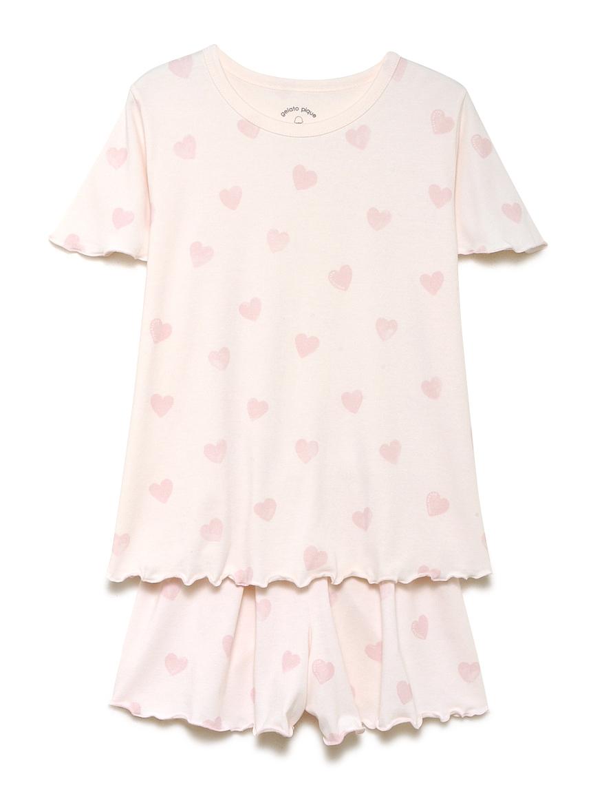 【オフィシャルオンラインストア限定】【junior】ハート柄ジュニアTシャツハーフパンツSET
