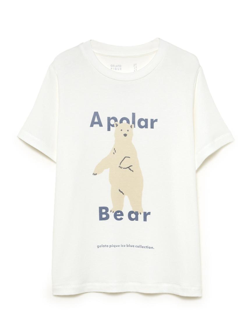 【オフィシャルオンラインストア限定】【junior】【シロクマ】シロクマワンポイント冷感ジュニアTシャツ