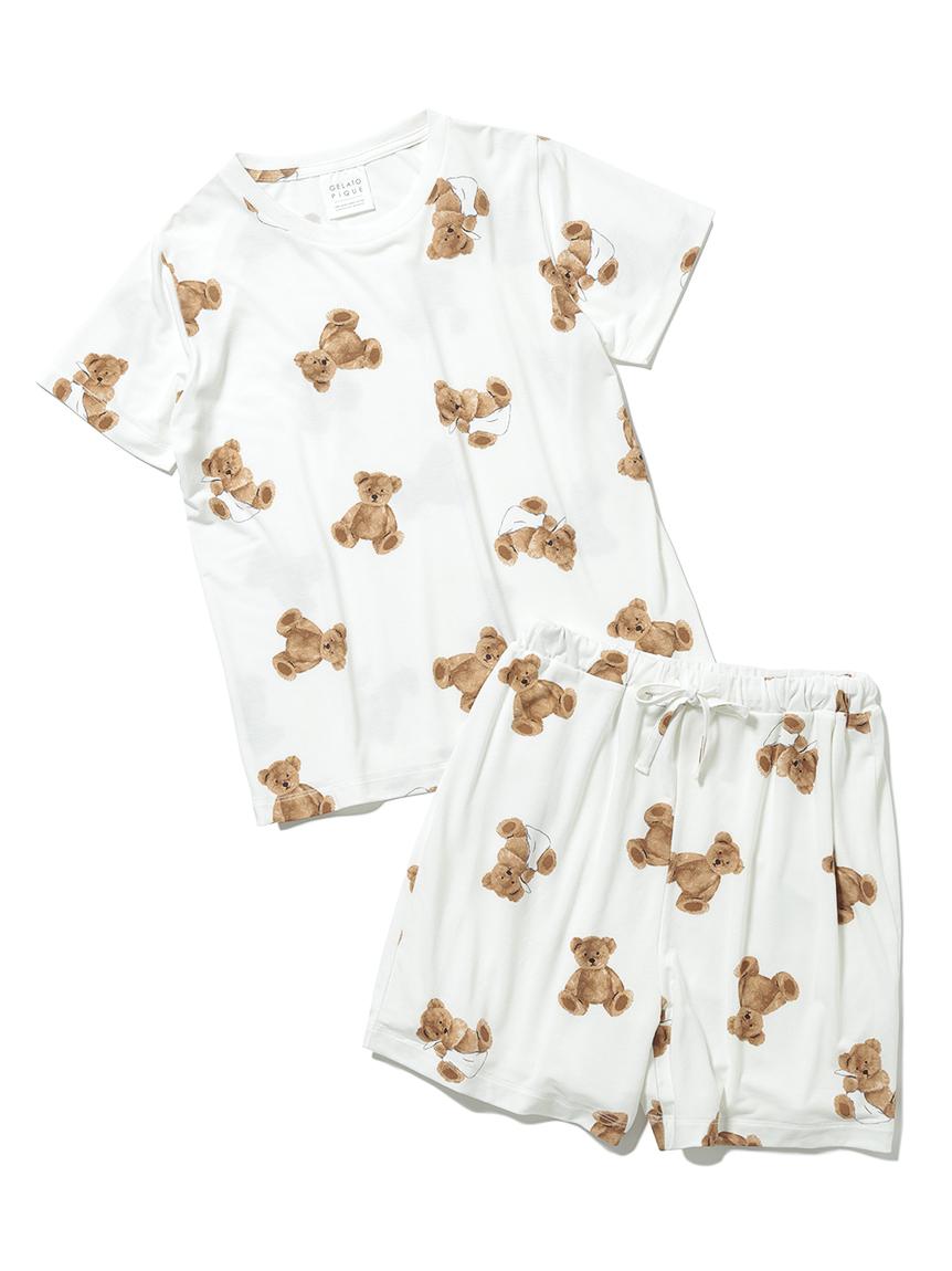【オフィシャルオンラインストア限定】【junior】ベア柄抗菌防臭Tシャツ&ショートパンツ