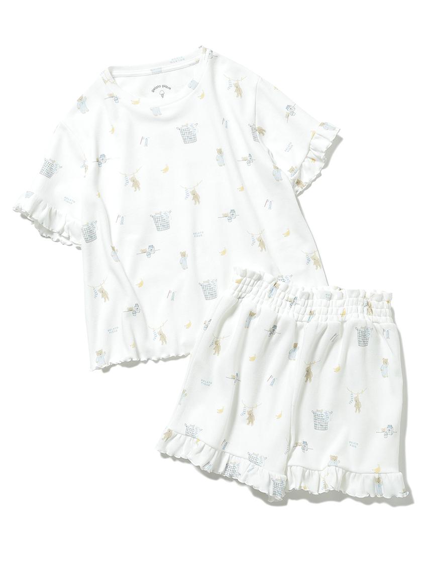 【オフィシャルオンラインストア限定】【junior】モーニングベア柄フリルTシャツ&ショートパンツSET
