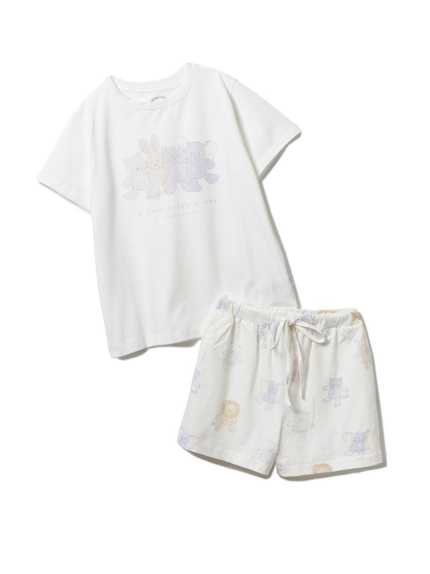 【オフィシャルオンラインストア限定】【junior】ぬいぐるみTシャツ&ショートパンツ