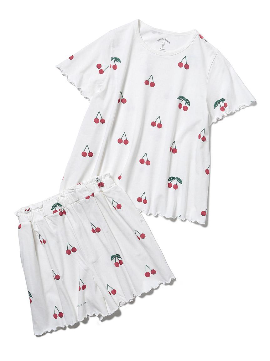 【オフィシャルオンラインストア限定】【junior】チェリー柄Tシャツ&ショートパンツSET