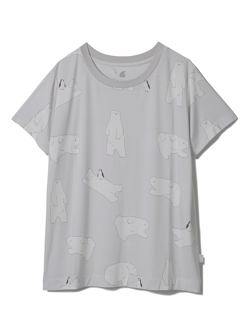 【オフィシャルオンラインストア限定】【COOL FAIR】【junior】しろくま柄Tシャツ(GRY-130-140)