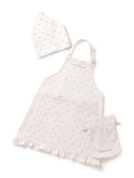 【オフィシャルオンラインストア限定】【Junior】チェリーエプロン&三角巾SET(巾着付き)
