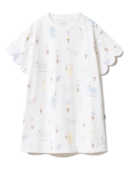 【KIDS】アイスクリームアニマル kids ドレス(OWHT-XXS)