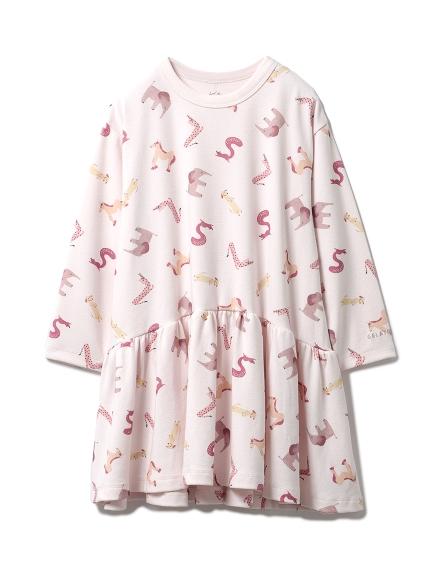 アルファベットアニマル kids ドレス(PNK-XXS)