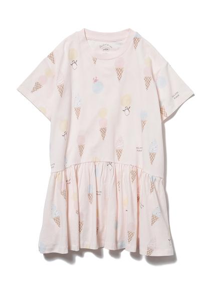 【KIDS】アイスクリームアニマルモチーフ kids ドレス(PNK-XXS)
