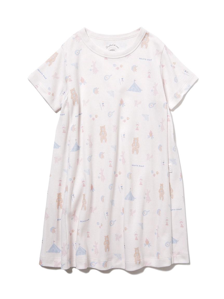 【KIDS】 アニマルキャンプモチーフ kids ドレス