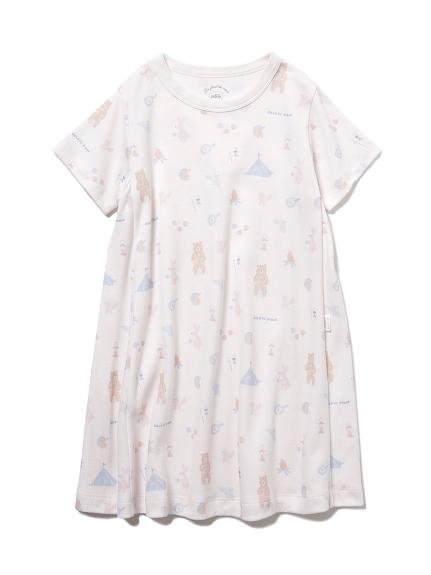 【KIDS】 アニマルキャンプモチーフ kids ドレス(PNK-XXS)