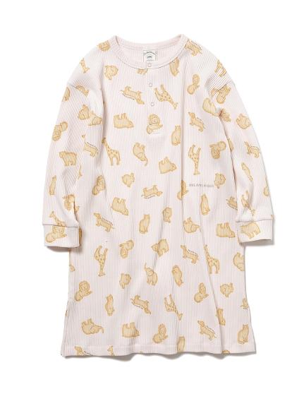 【KIDS】 クッキーアニマルモチーフ kids ドレス(PNK-XXS)