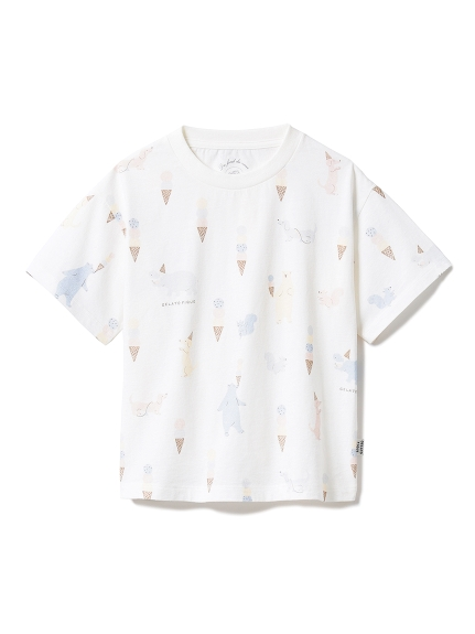 【KIDS】アイスクリームアニマル kids Tシャツ
