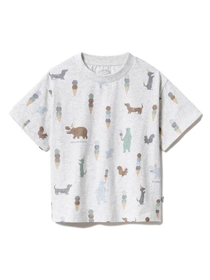 【KIDS】アイスクリームアニマル kids Tシャツ(GRY-XXS)