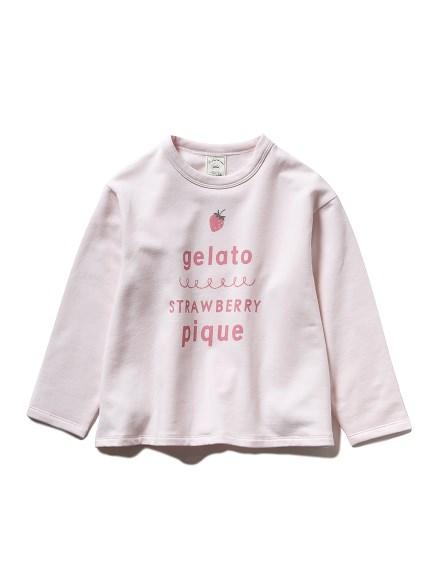 【KIDS】ストロベリーロゴワンポイント kids Tシャツ