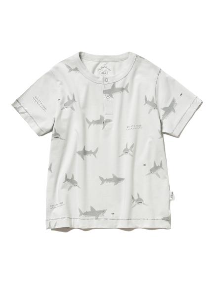 シャークモチーフ kids Tシャツ(MNT-XXS)