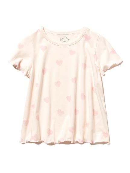 ハートモチーフ kids Tシャツ(PNK-XXS)