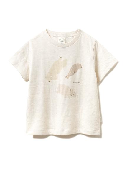 【旭山動物園】ペイントアニマル kids Tシャツ(BEG-XXS)