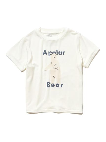 【シロクマフェア】ワンポイント冷感 kids Tシャツ(OWHT-XXS)
