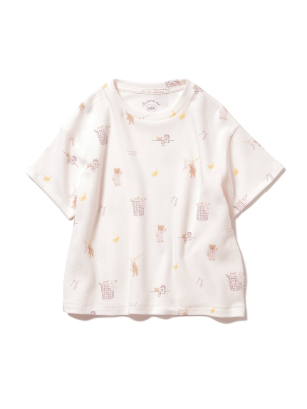 【KIDS】モーニングベア kids Tシャツ(PNK-XXS)
