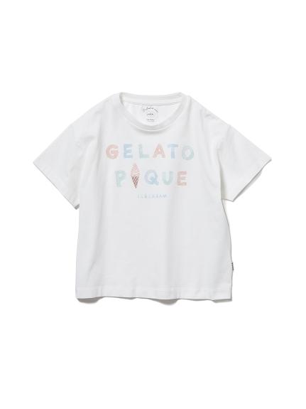 【KIDS】アイスクリームロゴワンポイント kids Tシャツ(OWHT-XXS)