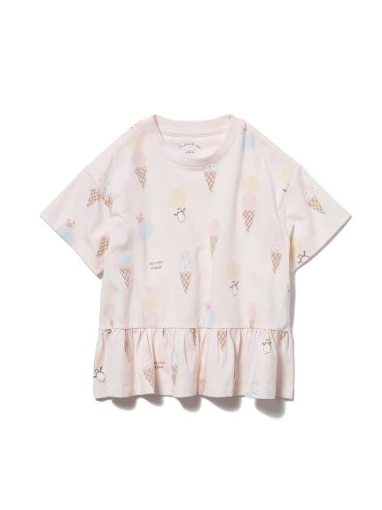 【KIDS】アイスクリームアニマルモチーフ kids フリルTシャツ