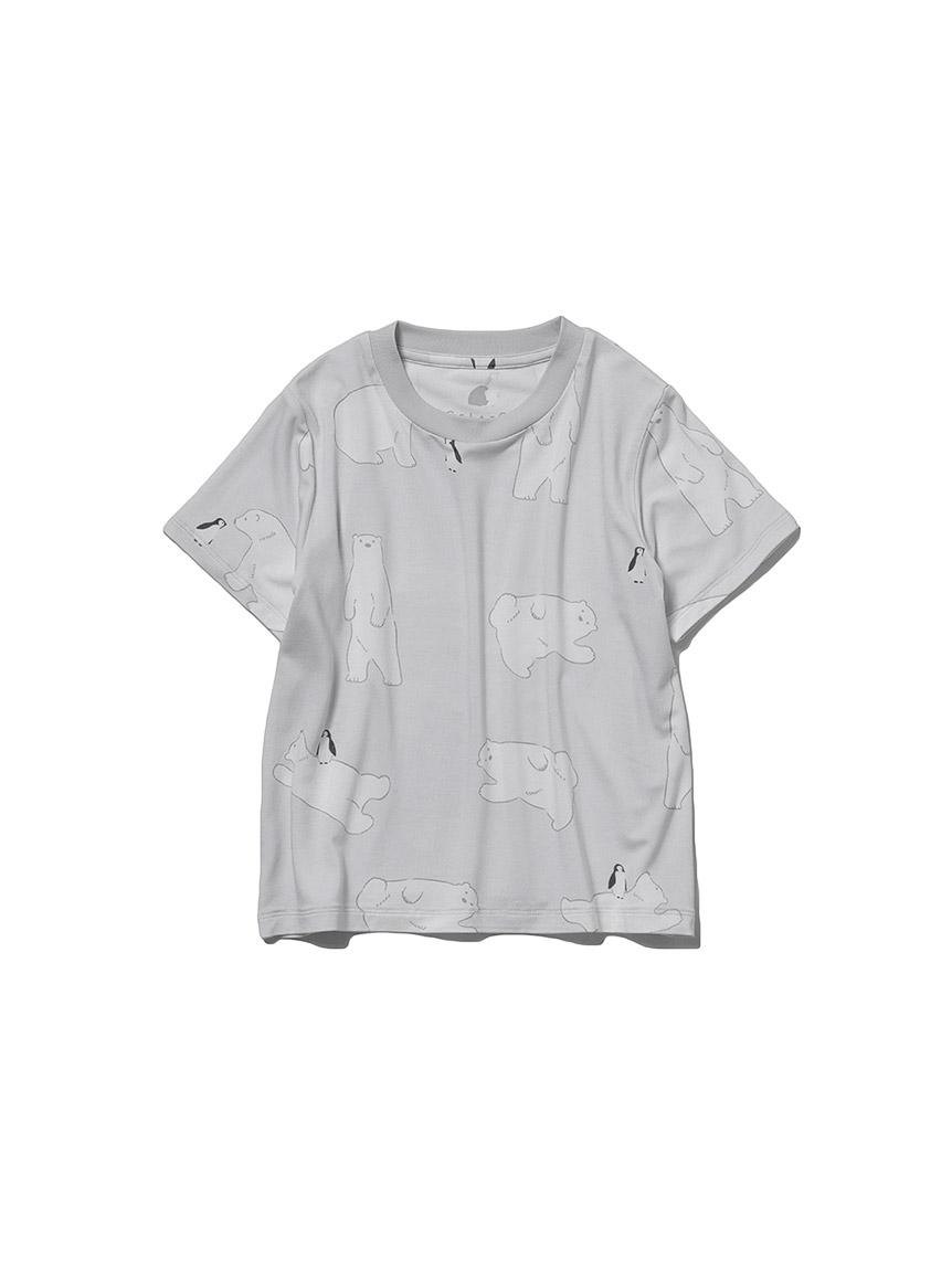 【KIDS】【COOL FAIR】シロクマモチーフ kids Tシャツ(GRY-XXS)