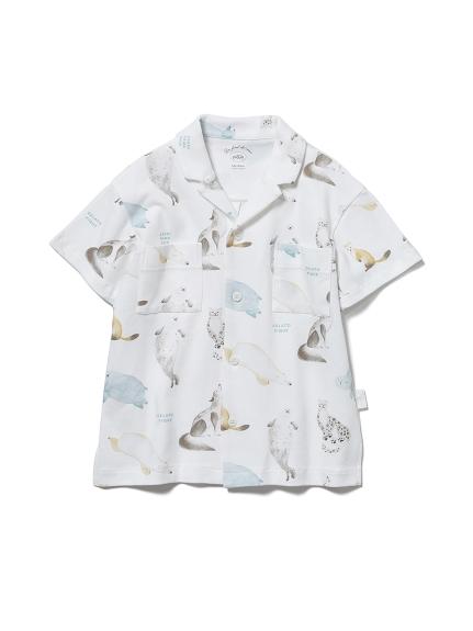 【KIDS】【旭山動物園】アニマルモチーフ kids シャツ(OWHT-XXS)