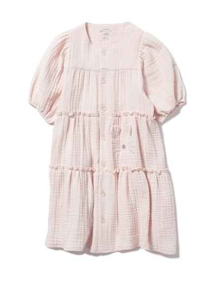 【KIDS】アニマルガーゼ kids ドレス(PNK-XXS)