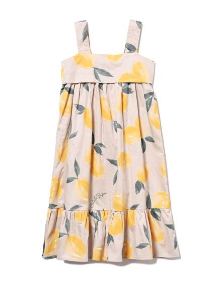 【KIDS】フルーツアロハモチーフ kids ドレス(YEL-XXS)