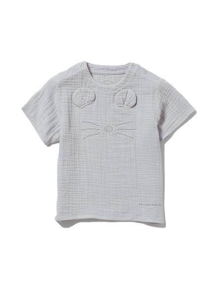 【KIDS】アニマルガーゼ kids Tシャツ(BLU-XXS)