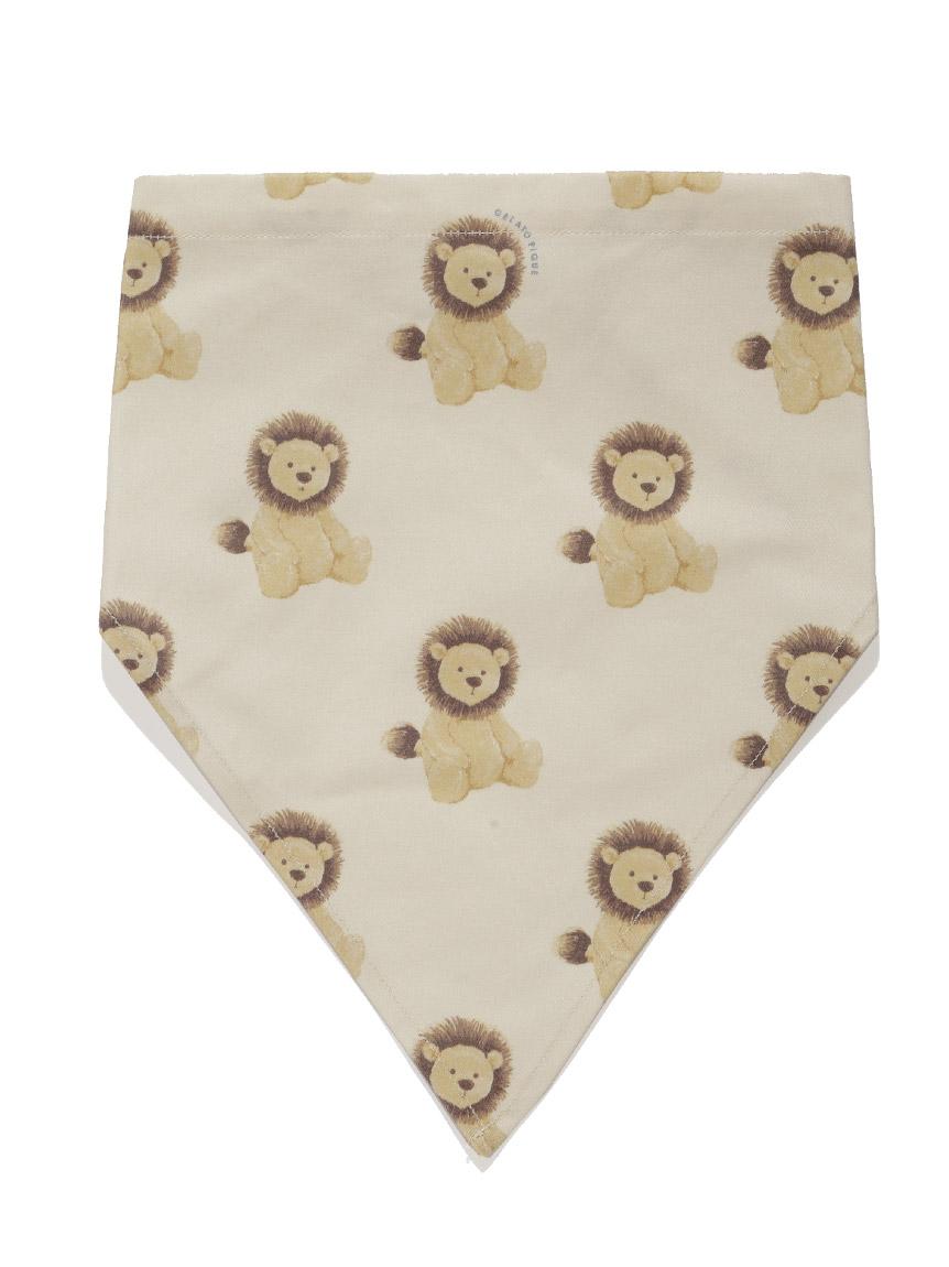 【オフィシャルオンラインストア限定】【KIDS】アニマル柄三角巾(BEG-F)