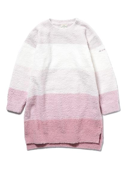 【KIDS】'ベビモコ'ブロックボーダー kids ドレス(PNK-XXS)