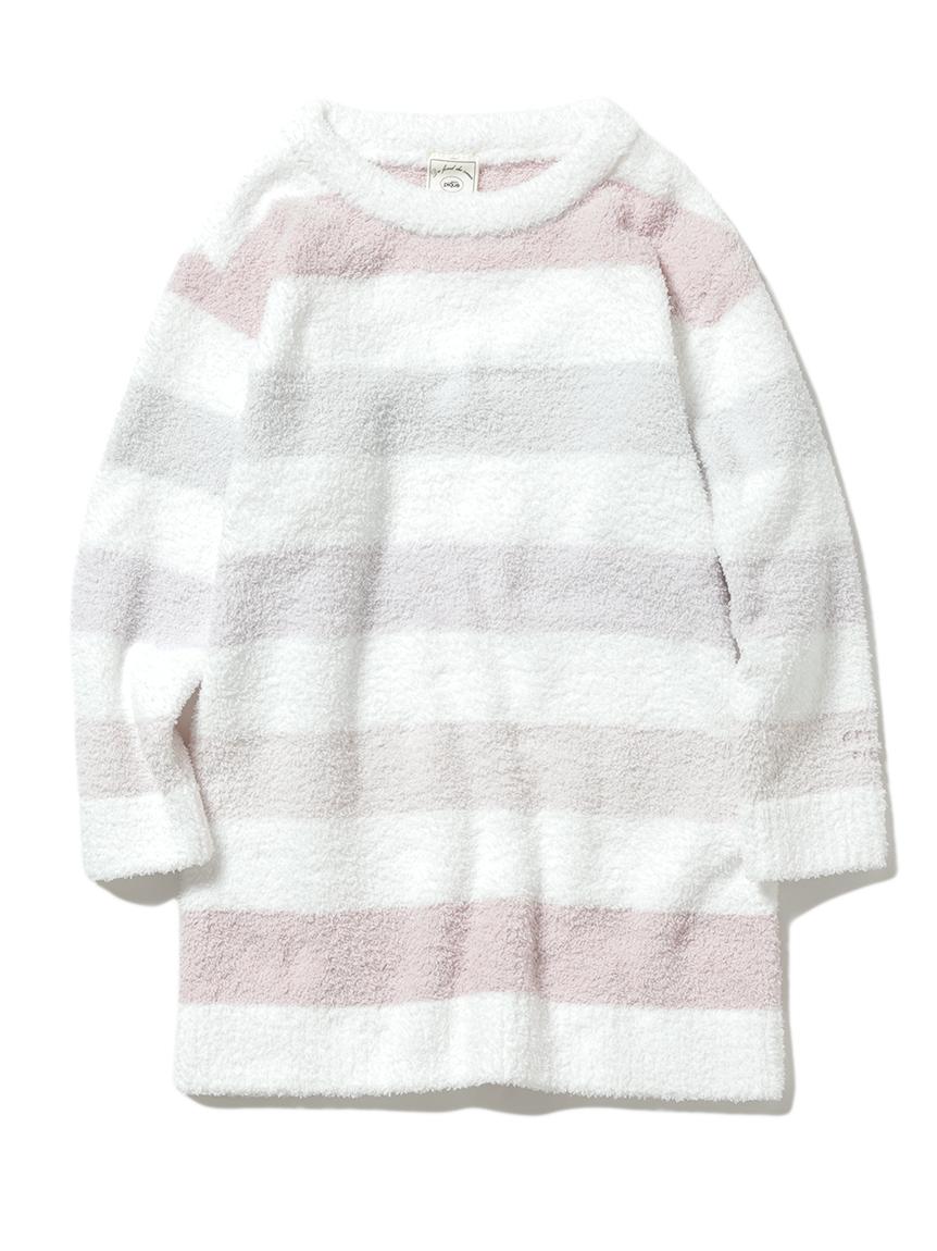 【KIDS】'ベビモコ'5ボーダー kids ドレス(PNK-XXS)