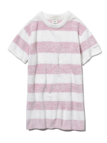 【KIDS】'スムーズィー'メランジ2ボーダー kids ドレス(PNK-XXS)