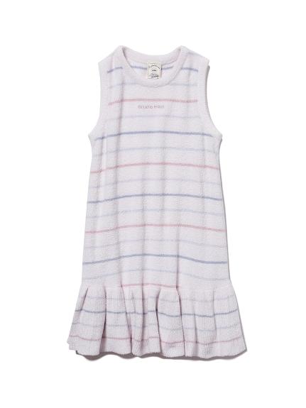 【KIDS】'スムーズィー'カラフルピンボーダー kids ドレス(PNK-XXS)
