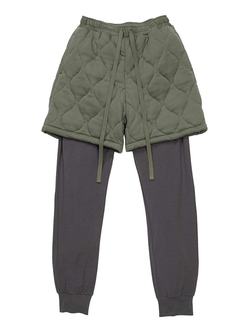 【MISTERGENTLEMAN×HOMME】QUILTED LAYERED PANT(OLV-M)