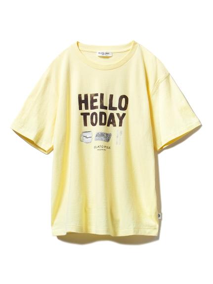 【GELATOPIQUEHOMME】ワンポイントTシャツ(YEL-M)