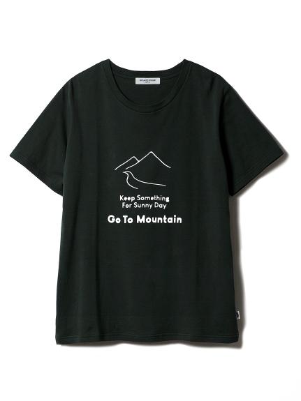 【GELATOPIQUEHOMME】マウンテンワンポイントTシャツ(GRN-M)