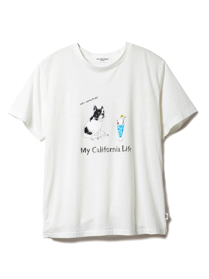 【GELATOPIQUEHOMME】ドッグワンポイントTシャツ