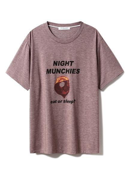 【GELATO PIQUE HOMME】NIGHT MUNCHIES Tシャツ(BRW-M)
