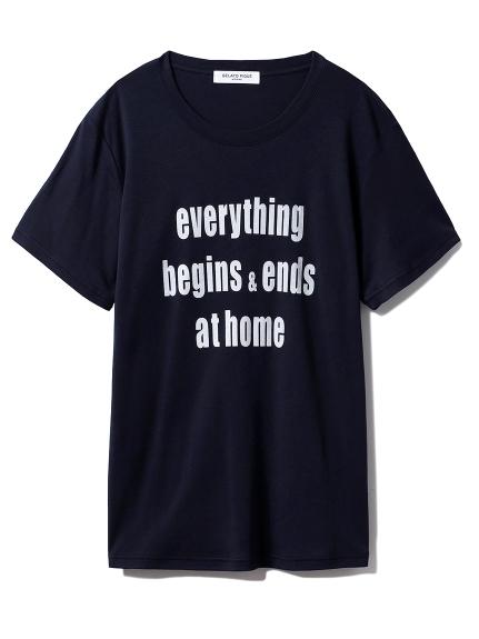 【GELATO PIQUE HOMME】ロゴTシャツ(NVY-M)