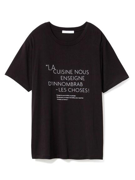 【Joel Robuchon & gelato pique】 HOMME ロゴTシャツ(BLK-M)