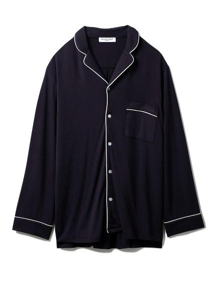 【GELATO PIQUE HOMME】レーヨンシャツ(NVY-M)