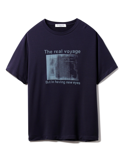 【GELATO PIQUE HOMME】レーヨンロゴTシャツ(NVY-M)
