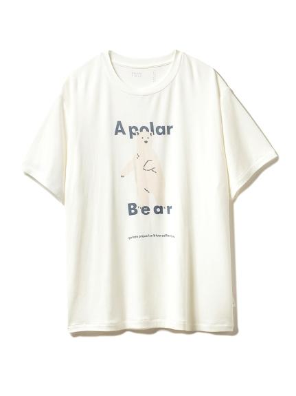 【シロクマフェア】HOMMEワンポイント冷感Tシャツ