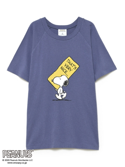 【PEANUTS】HOMME ワンポイントTシャツ
