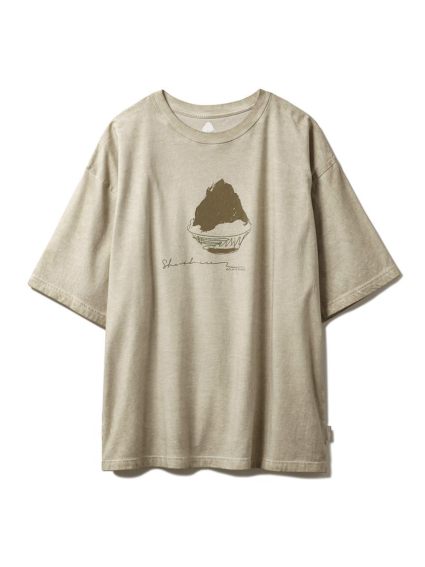 【GELATO PIQUE HOMME】かき氷Tシャツ(BEG-M)