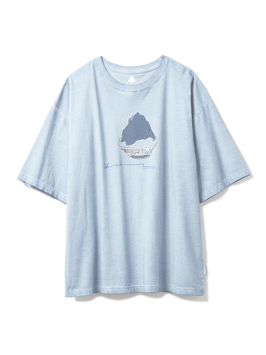 【GELATO PIQUE HOMME】かき氷Tシャツ(BLU-M)